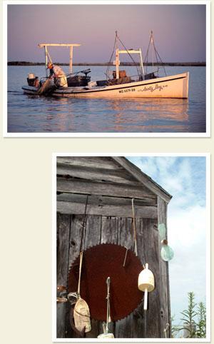 crabbing at sunrise and crabbing buoys